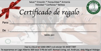 Certificado de regalo en Polanco
